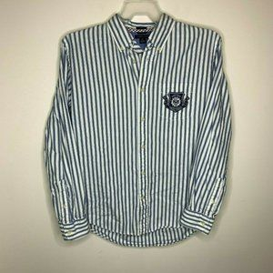 Tommy Hilfiger Mens M Blue and White Striped